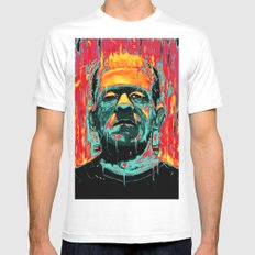 Frankenstein Mens Fitted Tee White SMALL