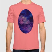 Anemone Wave Pixel Mens Fitted Tee Pomegranate SMALL