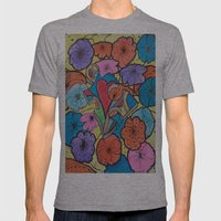 AUTISM OF PEACE AND LOVE Mens Fitted Tee Athletic Grey SMALL