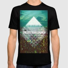 M83 - Midnight City SMALL Black Mens Fitted Tee