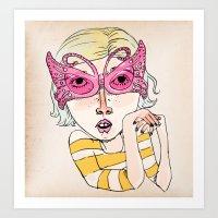 Butterfly Glasses Art Print