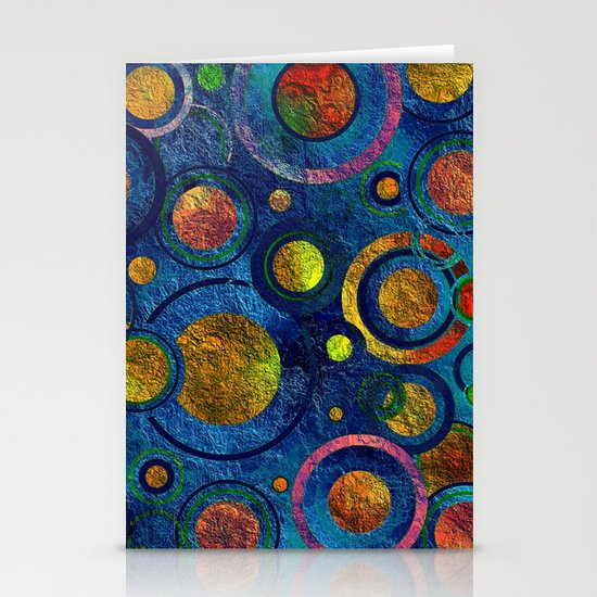 Full of Golden Dots - color variation Stationery Card