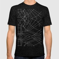 Webbed Unicorn V02 Mens Fitted Tee Tri-Black SMALL