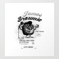James BROWNIE! Art Print