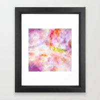 Abstract Magenta Cosmos Framed Art Print