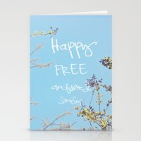 Above All, Be Happy Stationery Cards