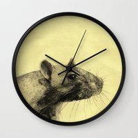 Rat 3 Wall Clock