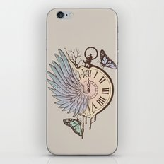 Le Temps Passe Vite (Time Flies) iPhone & iPod Skin