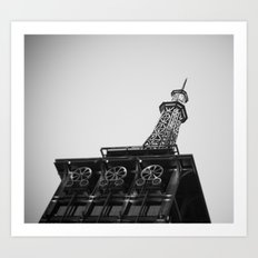 Eiffel Tower at Americana Art Print