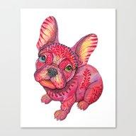 Raspberry Frenchie Canvas Print