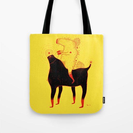 Yellow Rider Tote Bag