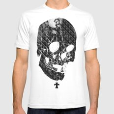 TML SKULLIFASHION Women Mens Fitted Tee White SMALL