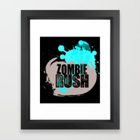 Zombie Rush - 2012 Framed Art Print