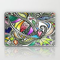 Zentangle Flowering Colo… Laptop & iPad Skin