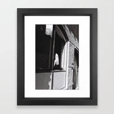 Girl at the window, Stockholm 2012 Framed Art Print
