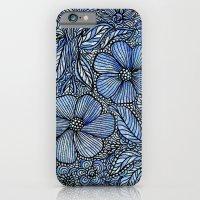 Flowers on blue.  iPhone 6 Slim Case