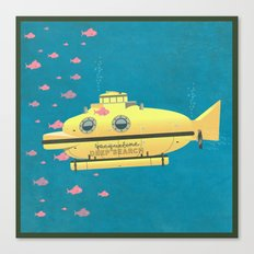 Jacqueline (The Life Aquatic) Canvas Print