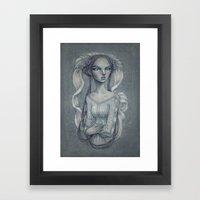 White Wedding Framed Art Print