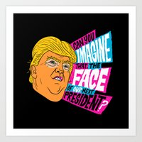 Trump Face Art Print