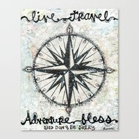 Live Travel Adventure Bless Canvas Print