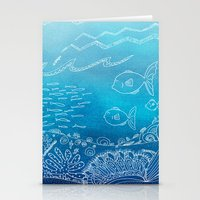 Wondersea Blue Stationery Cards