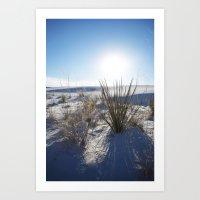 White Sands New Mexico Landscape photography Art Print