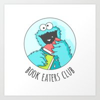 Book Monster Art Print