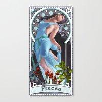 Zodiac Art Show - Pisces Canvas Print