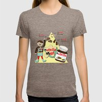 I {❤} NUTELLA Womens Fitted Tee Tri-Coffee SMALL