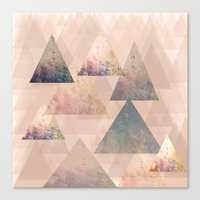 Pastel Abstract Textured… Canvas Print