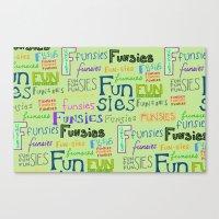 Funsies Canvas Print