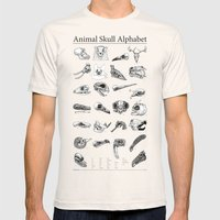 Animal Skull Alphabet Mens Fitted Tee Natural SMALL