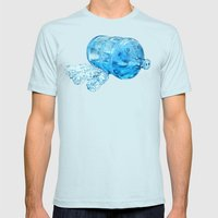 Water Hog Mens Fitted Tee Light Blue SMALL