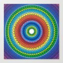 Happy Rainbow Mandala Canvas Print
