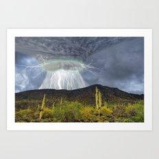 Monsoon Storm Over Black Mountain Art Print