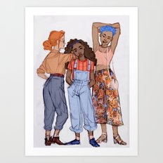 Ginny, Hermione and Tonks Art Print