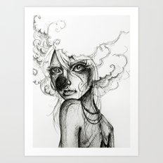 Circus Girl Art Print