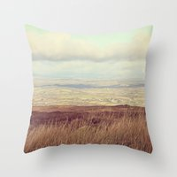 Cotton Wool Sky Throw Pillow