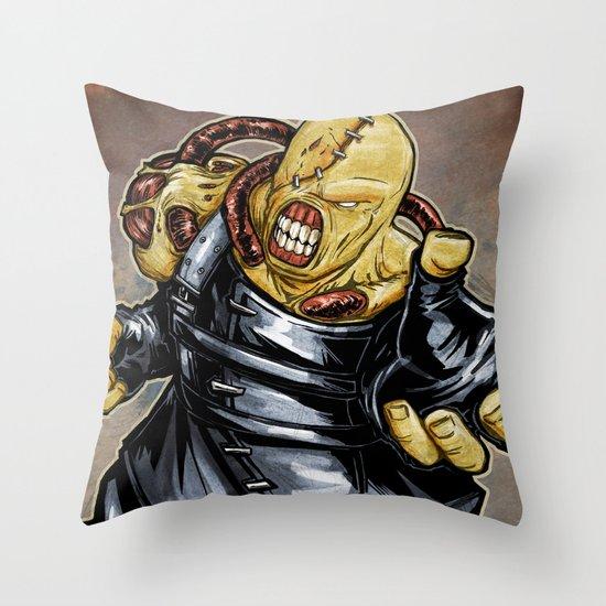 Nemesis: Resident Evil Throw Pillow
