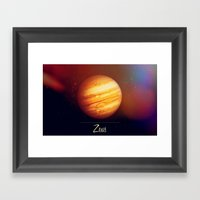 Zeus Jupiter Framed Art Print