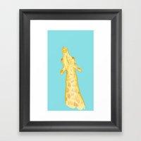 Stretchy Steve - Giraffe Painting Framed Art Print