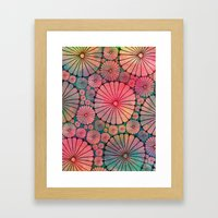 Abstract Floral Circles Framed Art Print