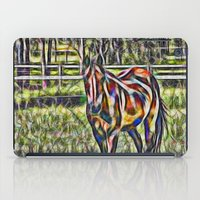 Horse In Paddock iPad Case