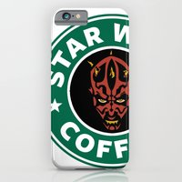 iPhone & iPod Case featuring Star Wars Coffee (Darth Maul) by Royal Bros Art