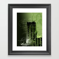 Project Green Tower Framed Art Print