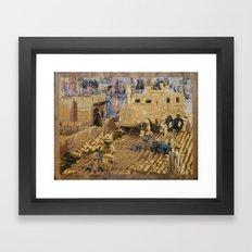 Clearing the Road, Kandahar Province, Afghanistan Framed Art Print
