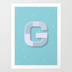 G is for Glamorous Art Print