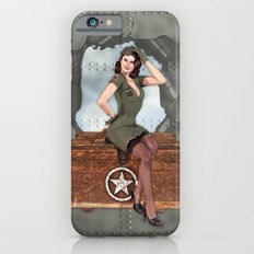 Pinup Brunette Army iPhone 6 Slim Case