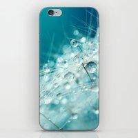 Dandy Starburst in Blue iPhone & iPod Skin