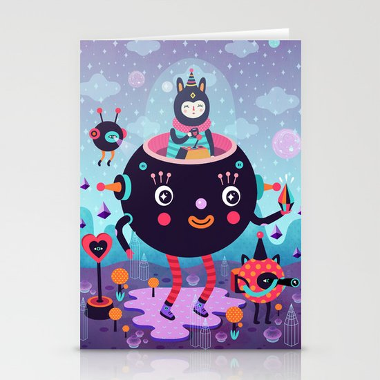 Amigos cósmicos Stationery Card